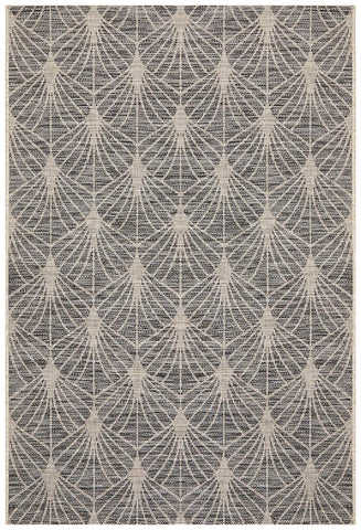 Courtyard Black Indoor Outdoor Rug - Floorsome