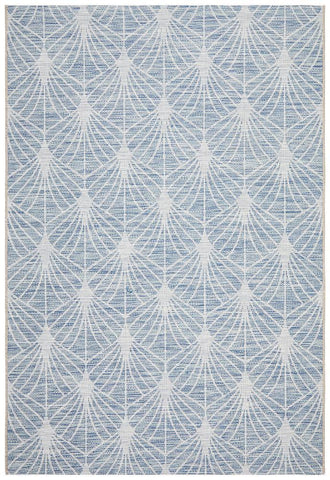 Courtyard 5502 Blue Indoor Outdoor Rug - Floorsome