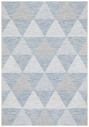 Courtyard 5503 Blue Indoor Outdoor Rug