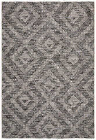 Courtyard 5504 Black Indoor Outdoor Rug - Floorsome