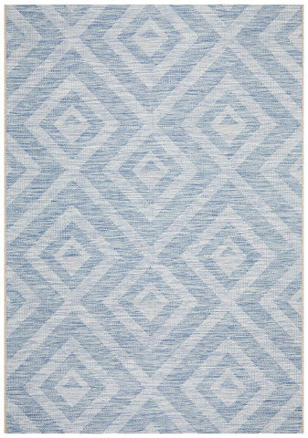 Courtyard 5504 Blue Indoor Outdoor Rug - Floorsome