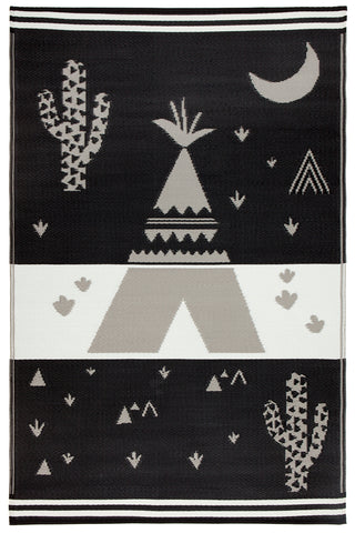 Teepee Black and Grey Kids Mat
