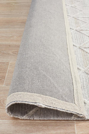 Winter Grey Brush Modern Rug
