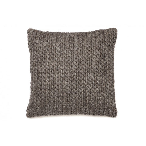 Alice Knitted Grey Indoor Cushion - Floorsome