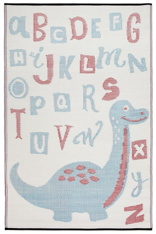 Baboosha Red and Blue Dino Kids Mat - Floorsome