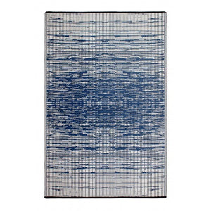 Blue recycled outdoor rug