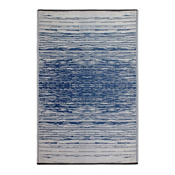 Outdoor Rug Recycled Plastic Brooklyn Blue Floorsome