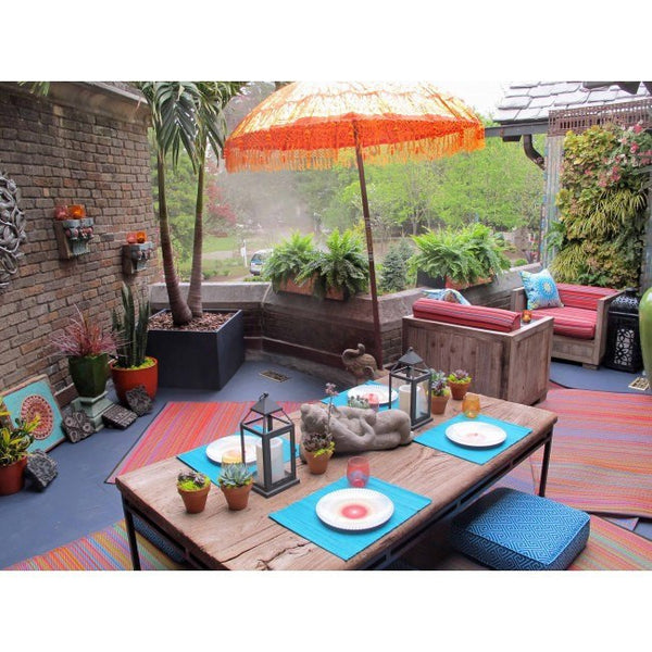 Outdoor Rug Recycled Plastic Cancun Multicolour Floorsome