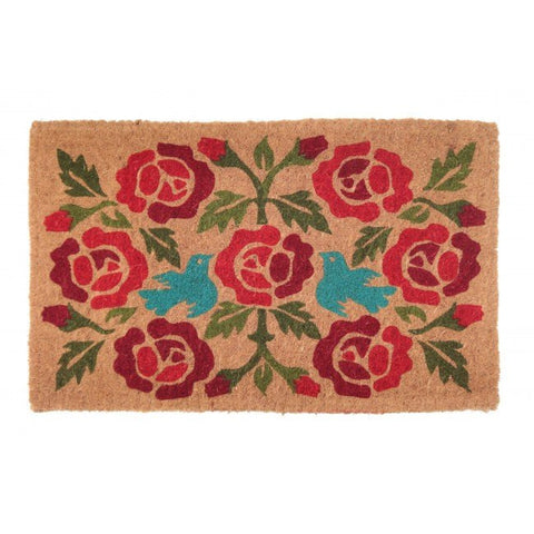 100% Coir Door Mat - Crimson 75x45cm - Floorsome