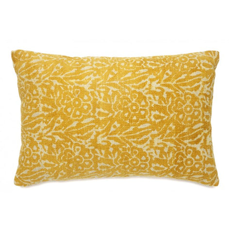 Cygnus Yellow and White Indoor Cushion - Floorsome
