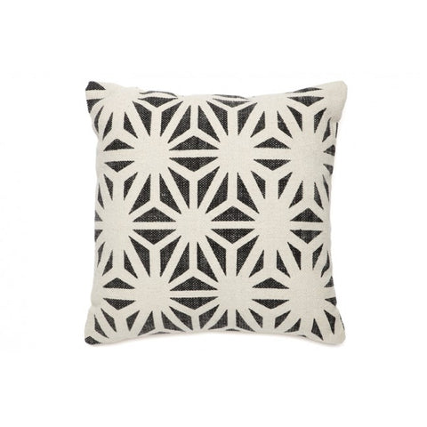 Dahlia Black and White Indoor Cushion - Floorsome