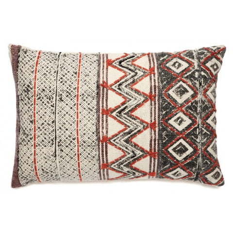 Daphne Red White and Black Indoor Cushion - Floorsome