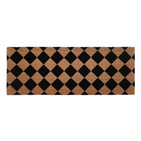 PVC Backed Coir Door Mat - Diamond 120x45cm - Floorsome