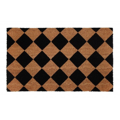 PVC Backed Coir Door Mat - Diamond 75x45cm - Floorsome