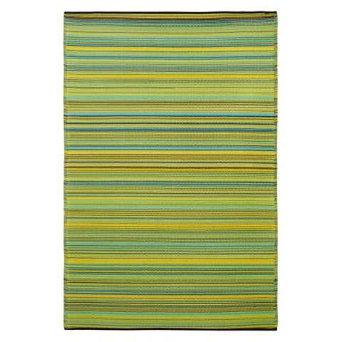 Recycled plastic outdoor rug lemon apple