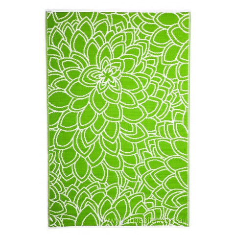 Outdoor Rug Recycled Plastic  - Eden Lime - Floorsome