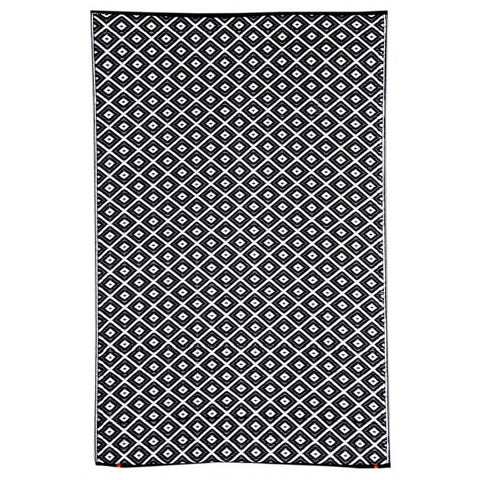 Recycled plastic outdoor rug Kimberley Black
