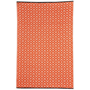 Recycled plastic outdoor rug Kimberley Orange