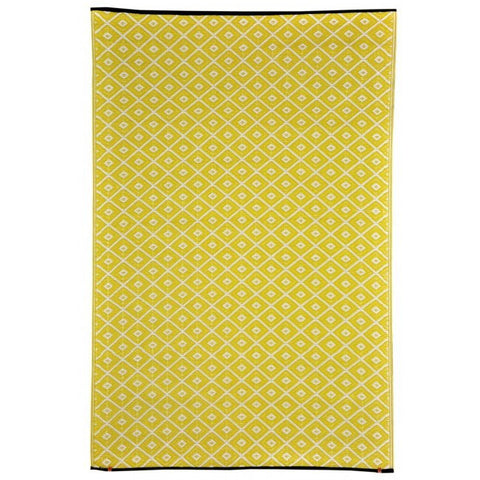 Recycled plastic outdoor rug Kimberley Yellow
