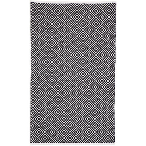 Indoor Recycled Cotton Rug - Kimberley Black