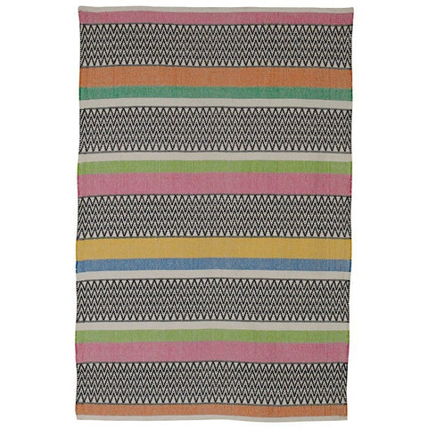Indoor Recycled Cotton Rug - Maya Multi Pink