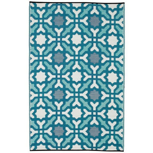 Outdoor Rug Recycled Plastic - Seville Blue