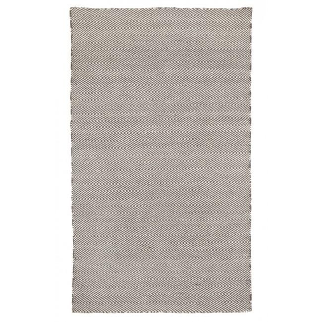 Indoor Outdoor Recycled Plastic PET Polypropylene Rug Herringbone Ash Grey