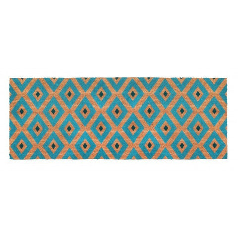 PVC Backed Coir Door Mat - Kimberley Blue 120x45cm - Floorsome