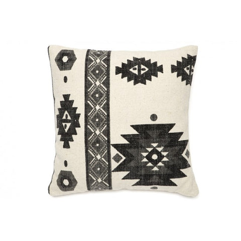 Lyra White and Black Indoor Cushion
