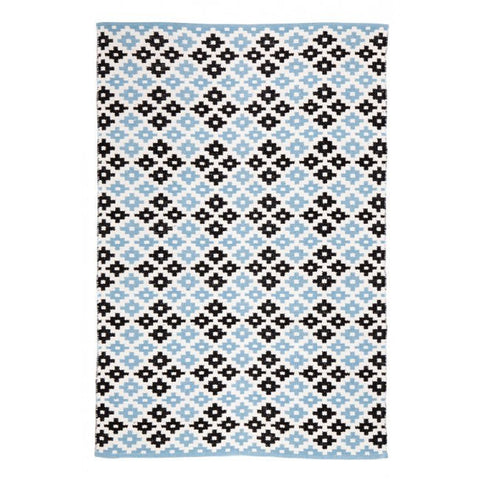 Indoor Recycled Cotton Rug - Megh Blue