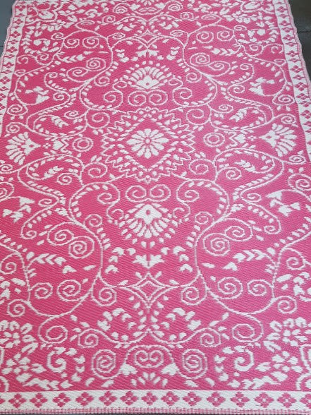 Recycled Plastic Outdoor Rug Pink   Floorsome ...
