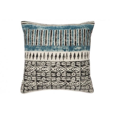 Portia Black White and Blue Indoor Cushion