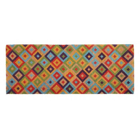 100% Coir Door Mat - Saman Multicolour 120x45cm - Floorsome