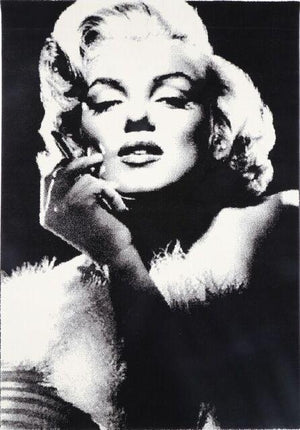 Marilyn Monroe Black White Rug