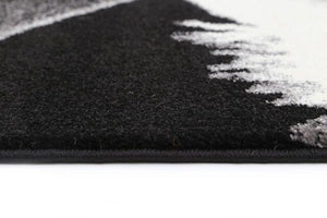 Deer Black White Rug