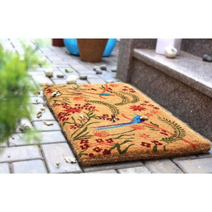 100% Coir Door Mat - Vivid Multicolour 75x45cm - Floorsome