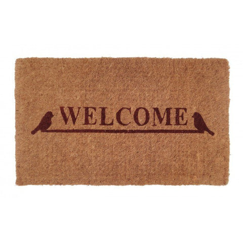100% Coir Door Mat - Welcome 75x45cm - Floorsome