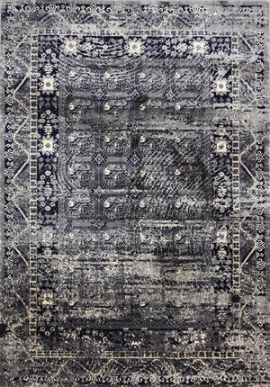 Expression Grey Distressed Traditional Vintage Persian Rug