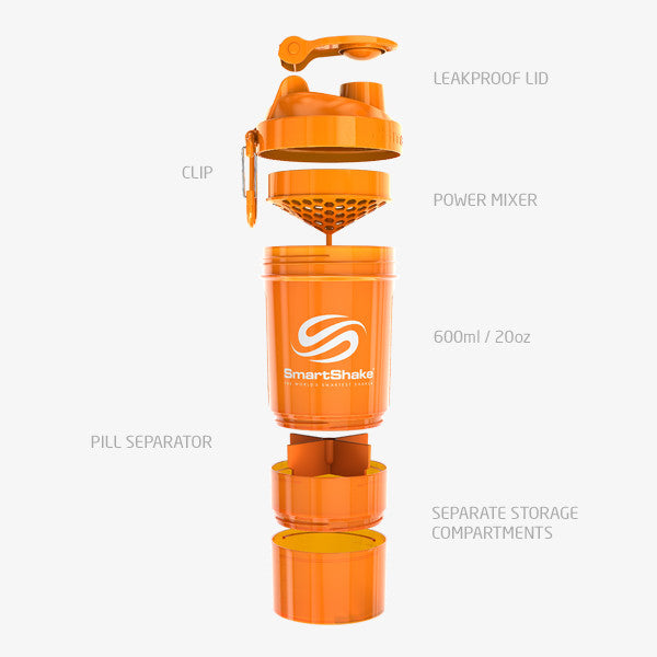 SmartShake Original2Go 600ml/20oz Neon Orange