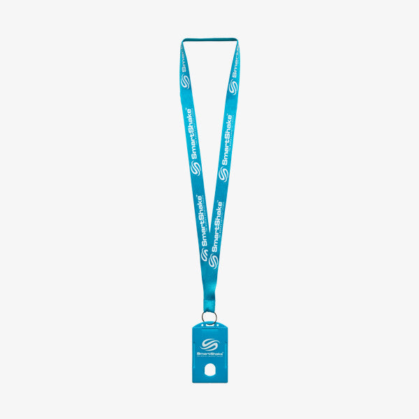SmartShake Lanyard / Gym Card Holder Neon Blue