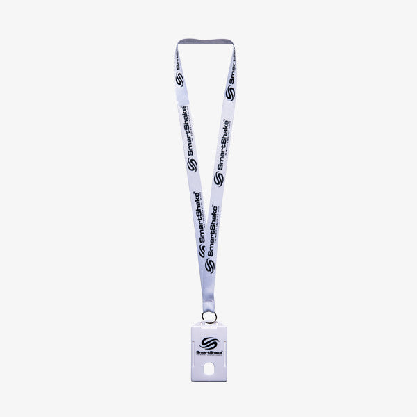 SmartShake Lanyard / Gym Card Holder Pure White