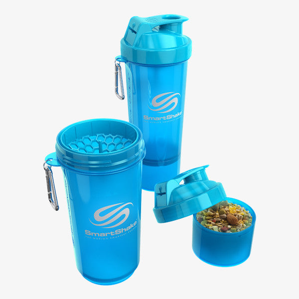 SmartShake Slim 500ml/17oz Neon Blue