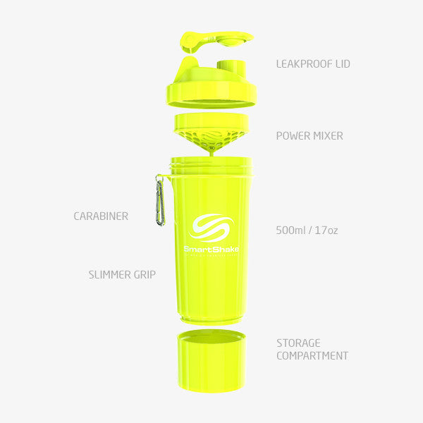 SmartShake Slim 500ml/17oz Neon Yellow