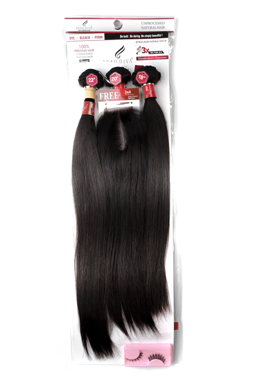 Peruvian 1Pack Stw 3X Bundle & Closure