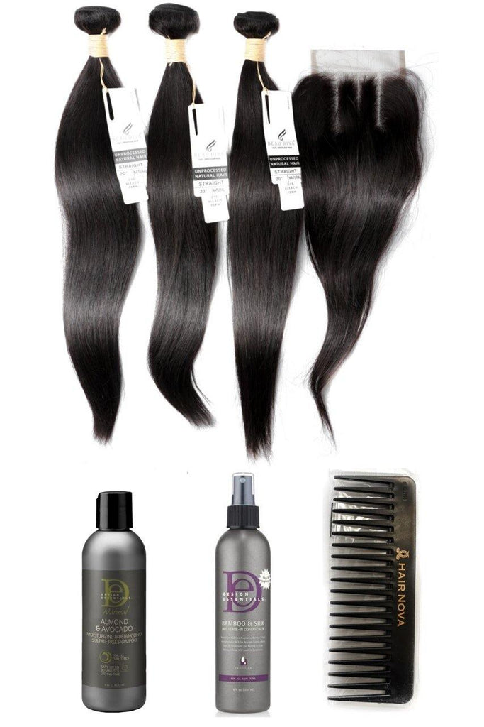 20 Indian 9a Bundles X 3 14 Closure Aftercare Combo Stylediva