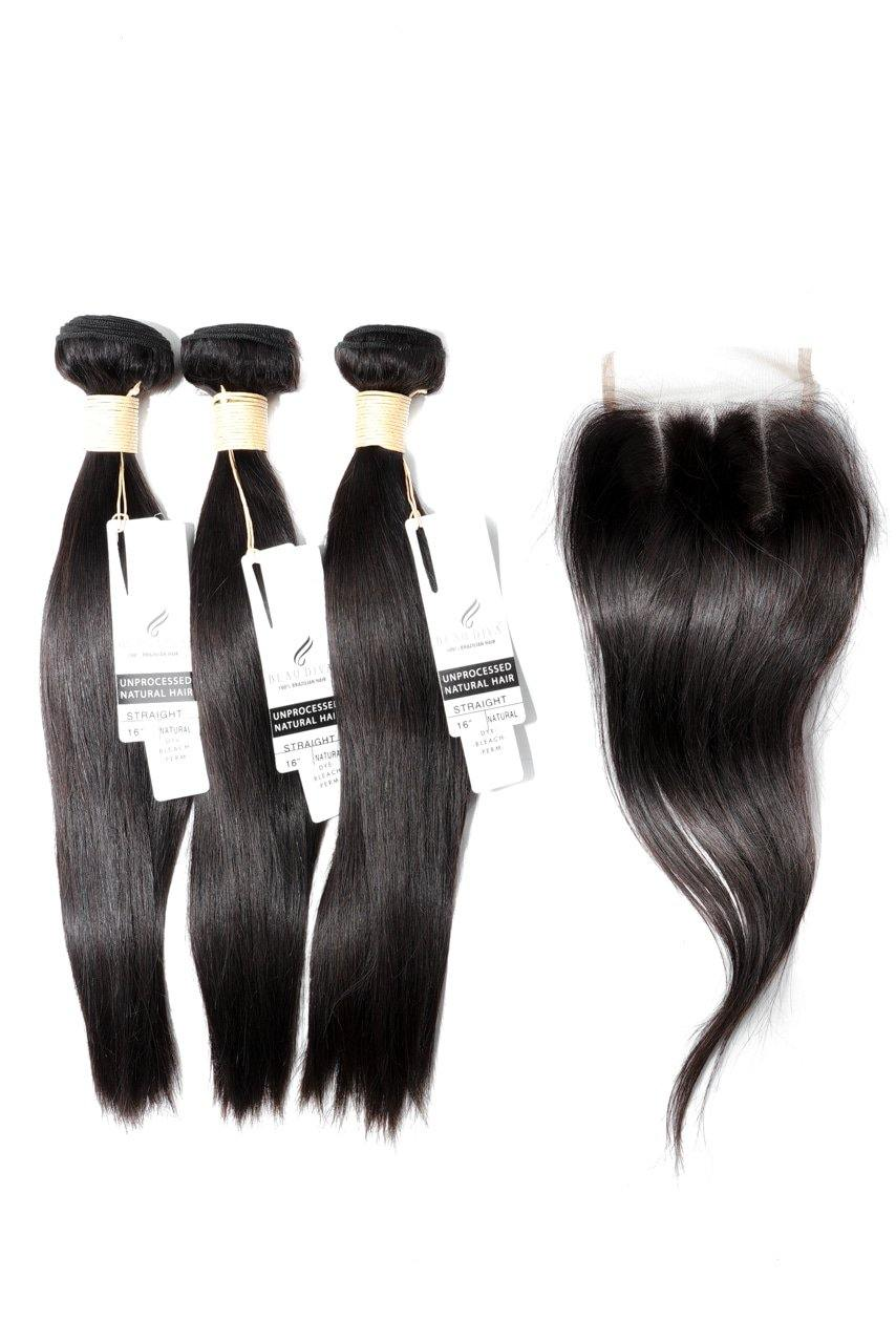"stylediva-dev - 16"" Brazilian 9A Bundles X 3 & 12"" Closure Combo - Kits - KITS"