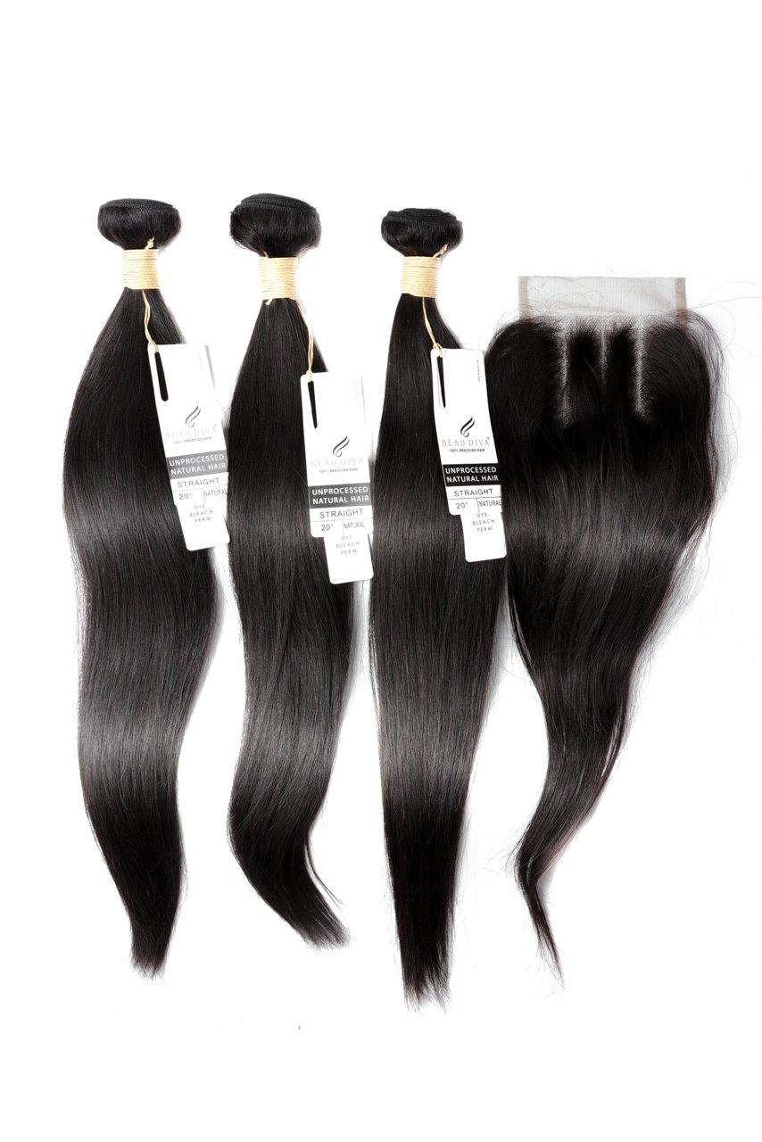 "stylediva-dev - 20"" Brazilian 9A Bundles X 3 & 14"" Closure Combo - Kits - KITS"