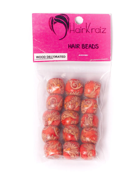 Woke Cosmetics Decorated Wooden Beads