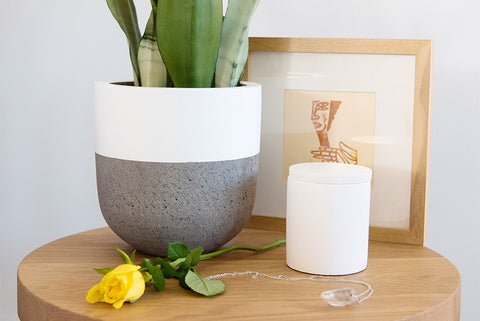 White Concrete Soy Candle
