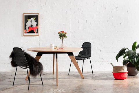 round industrial dining table Sydney